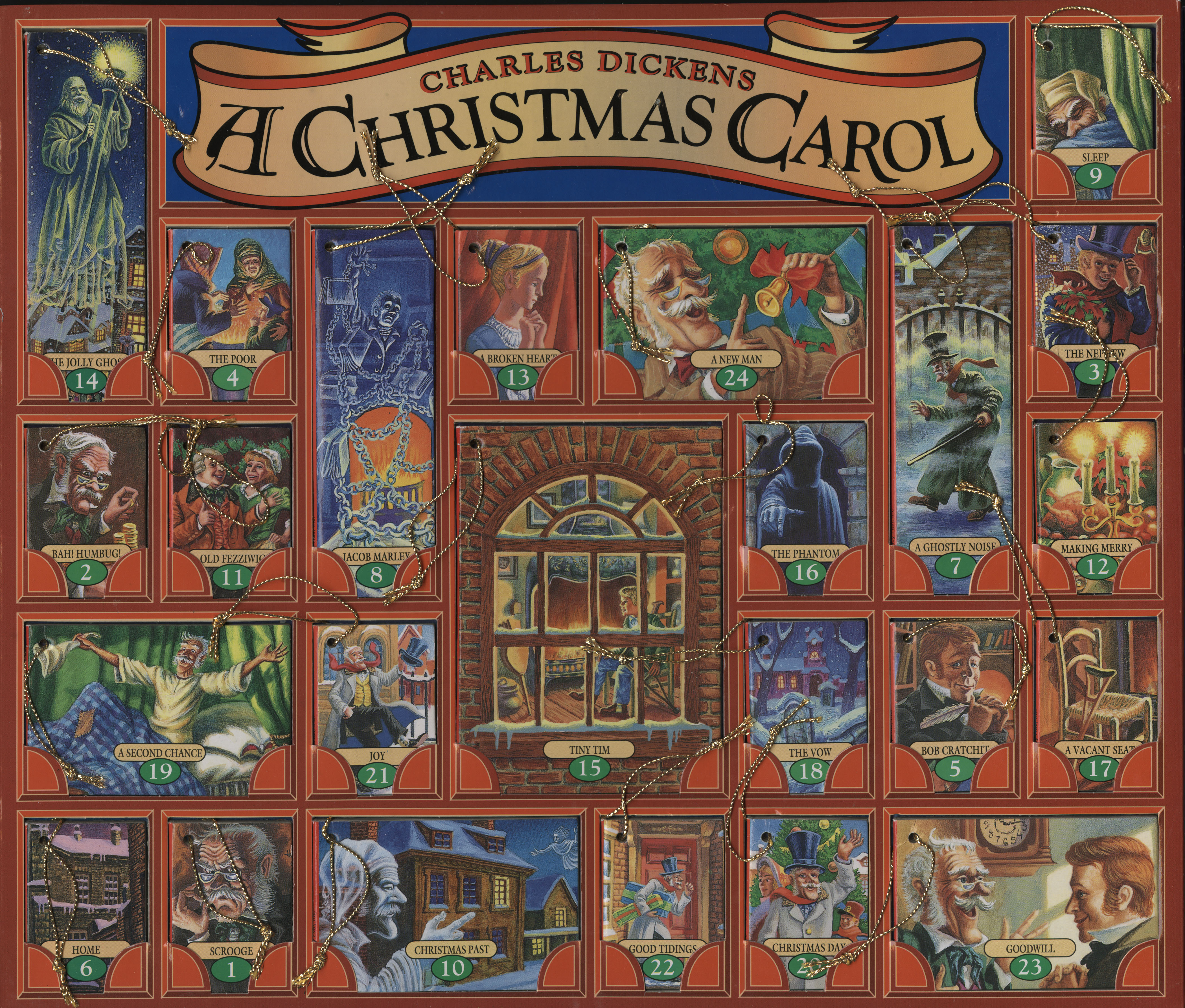 A Christmas Carol, an advent calendar of miniature books (interior)