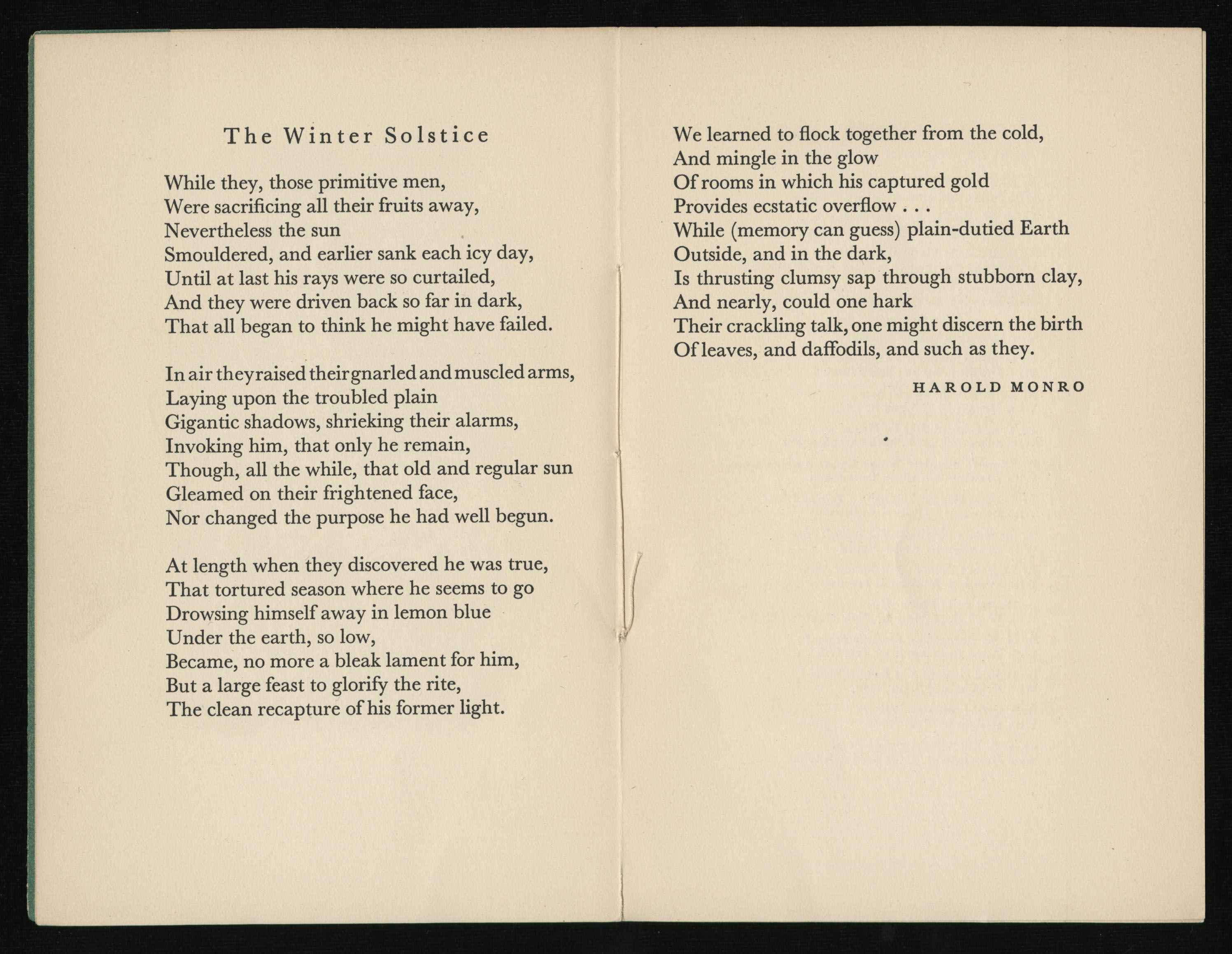 The Winter Solstice, a poem by Harold Monro