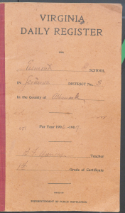 Benjamin F. Yancey's daily register for 1906-1907.