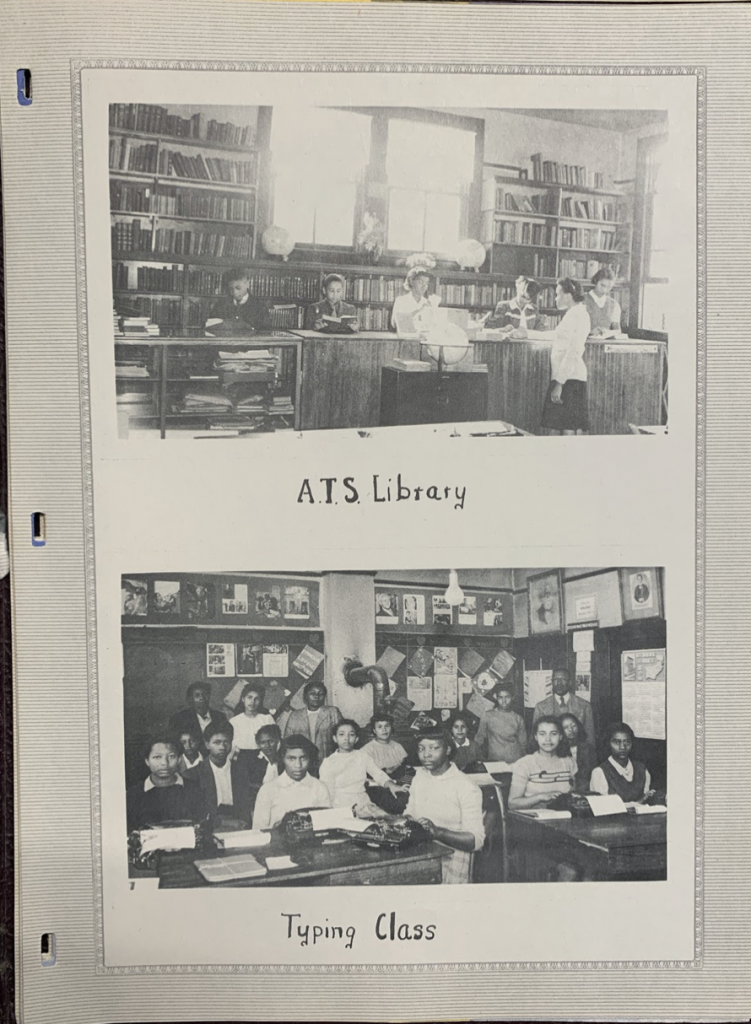 Albemarle Training School Library and Typing Class