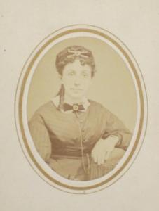 Carte-de-visite of Philena Carkin taken by Charlottesville photographer William Roads