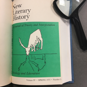 Cover of New Literary History, Spring 1973