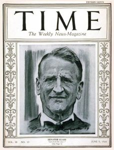 Carter Glass on the cover of Time Magazine